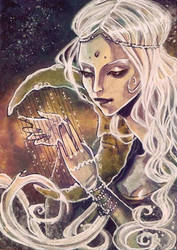 ACEO No3 - Moon Goddess by anja-uhren