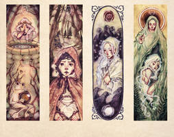 Fairy Tale Bookmarks by anja-uhren