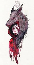 Little Red - Tattoo Design by anja-uhren