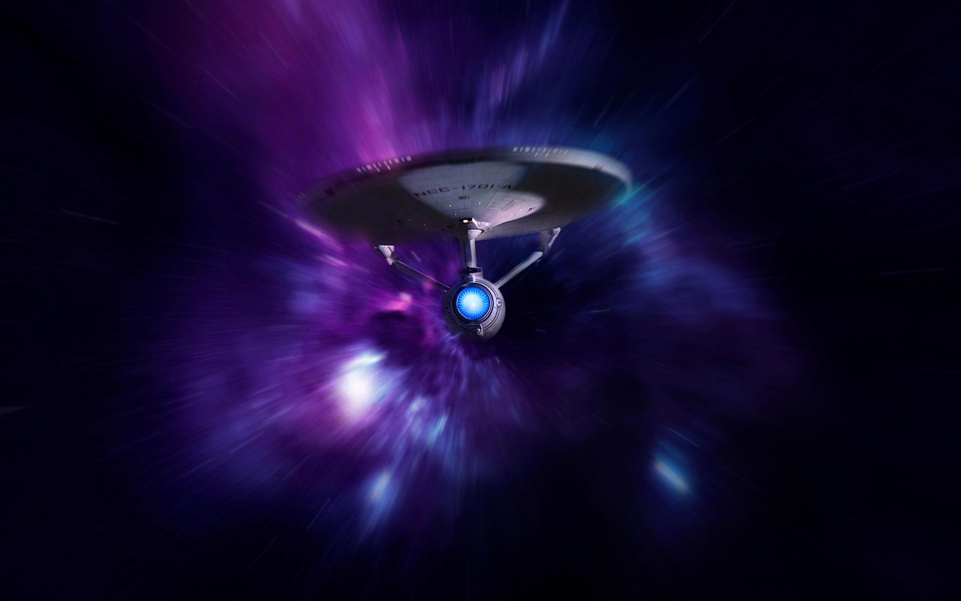 Enterprise at warp by 1darthvader