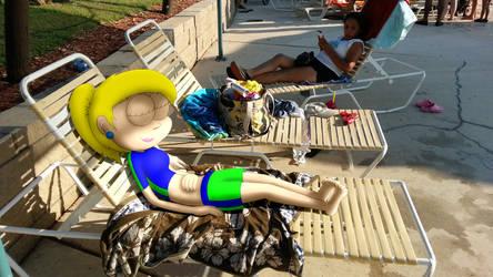 Britney Lying On Seat by JIMENOPOLIX
