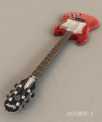 Guitar Red View 1 by AndyBuck