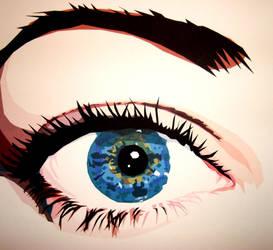 Eye close-up by LeannaReinhold
