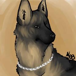Sib's German Shepherd by Miccy