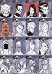 Marvel Masterpieces III Set 7 by RAHeight2002-2012