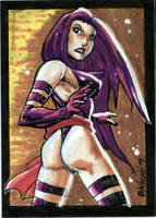 Psylocke Sketch Card by RAHeight2002-2012