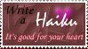 Haiku Stamp by monkgryphon