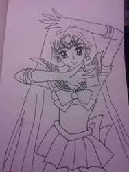 Sailor Mars-Manga Version by dokikittyproductions