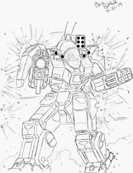 Battlemaster Lineart by Steel-Raven