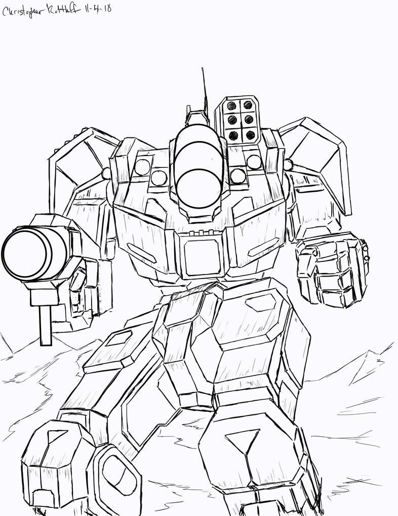 Battletech: Battlemaster BLR-1G by Steel-Raven