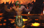 I see fire- Fandral Staghelm purged by fire by Tilpion