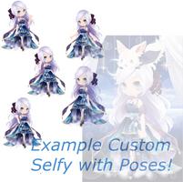 .:- Example of the New Custom Selfy's + OTA -:. by xShiori-Chan
