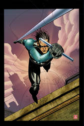 Nightwing colors by Absalom7