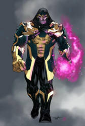thanos by spiderguile colored by Absalom7