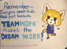Motivational Retsuko by RosieAhicu14