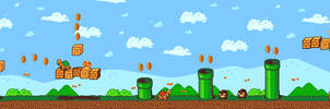 Pixel Art - Super Mario Remake by baranot3nshi