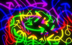 Colored arrows on a blackboard by minikozy92
