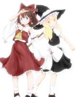 Reimu and Marisa 2 by A-Asahina777
