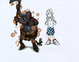 Dorothy and the Tin Woodman by XimonR