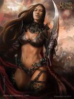 Atla`s Strongest Female Warrior - Regular Mari by Blackfoxst