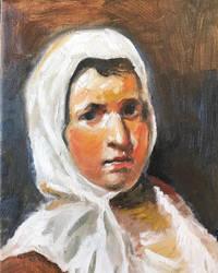 After Velasquez Peasant Woman 2018 by center555