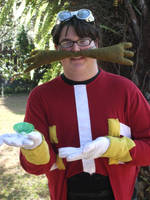 Dr. Eggman Cosplay 5 (with Green Chaos Emerald!) by linkinspirit95