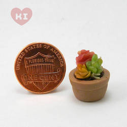 Miniature Potted Succulent 7 by meropepa
