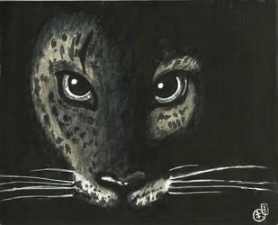 Leopard face by meropepa