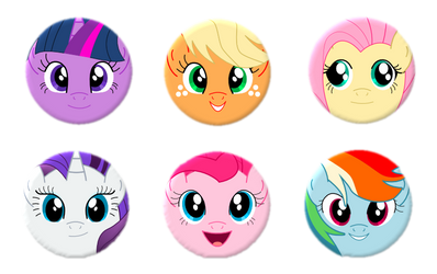 Buttons: My Little Pony Friendship is Magic by lordbatsy