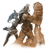 Shamis and Gunny by Isorose