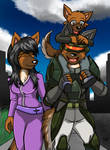 Alsatian Family Commission for LazyRayFinkle by MikeOrion