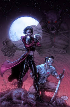 WereWolf Hunter's Colored by RudyVasquez