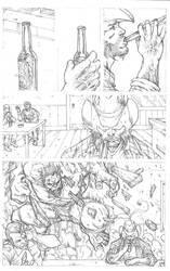 Wolverine vs Hulk page 1 by RudyVasquez