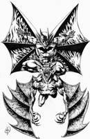 Inked Batman vs Banbat by RudyVasquez