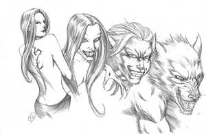 Werewolf transfrmation COMMISSION by RudyVasquez