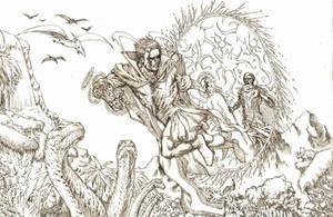 Dr. Strange Pencils by RudyVasquez