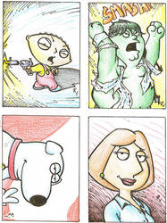 Family Guy sketch cards by RudyVasquez