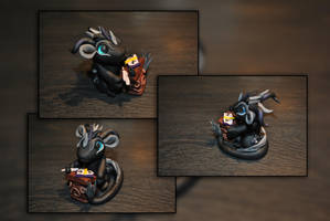 Baby Scribe Dragon by KirstenBerryCrafts
