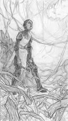 The Long Path Drawing by LaughingAstarael
