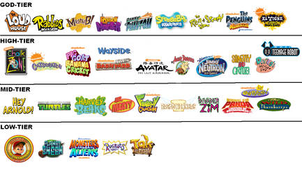 Nicktoons Tiers (My Opinion) READ THE DESCRIPTION by InsertOpinionHere