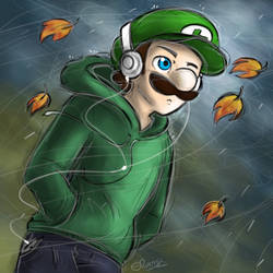 Autumn Walk - Luigi by Elwensa