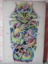 Tattoo design Organic sleeve by Xenija88