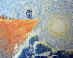 TARDIS en plein air by echidnite