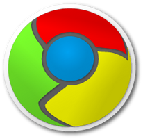 Google Chrome Sticker by Xenocide001