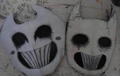 Mask Zacharie new and old by FedericoDonquixote