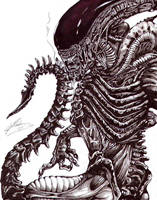 Alien drone ink by brigebane