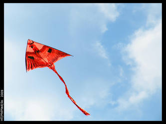 Kite in the clouds 1 by MidMad