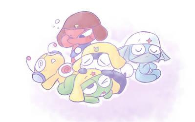 Sleepy Frogs by QT-Galaxy
