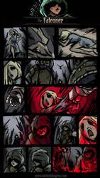 Darkest Dungeon Class Mod-Falconer Comic by JackieTeJackal