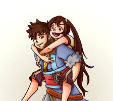 Lon'qu and Severa by Infinite-Stardust